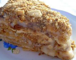 Торт шоколадный с бананами и орехами фото 4