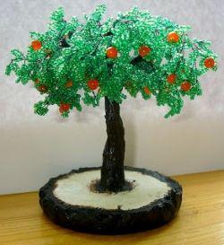 Как сделать дерево из бисера своими руками