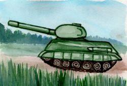 Как нарисовать танк поэтапно карандашом