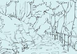 Как нарисовать природу, используя карандаши и акварельные краски
