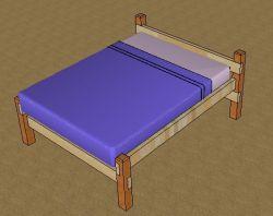 Деревянная кровать своими руками: чертежи, фото