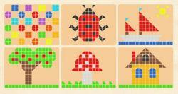 Мозаика для детей. Магнитная мозаика для детей