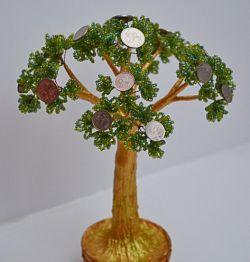 Денежное дерево из бисера: мастер-класс