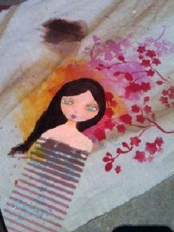 Краска для ткани. Роспись по ткани акриловыми красками