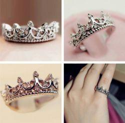 Кольцо в виде короны. Золотые, серебряные кольца