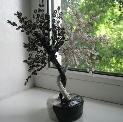 Дерево инь-янь из бисера и прочие украшения для дома