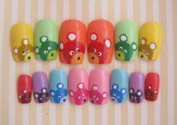 Как сделать рисунки акриловыми красками на ногтях?