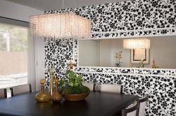 Бело черные обои для стен – стильное решение