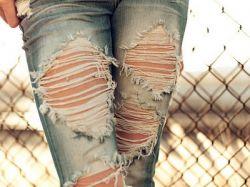 Как порвать джинсы красиво