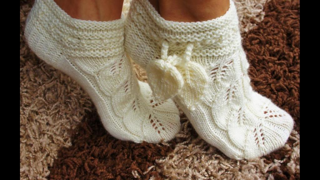Ажурные носки спицами схемы с описанием фото